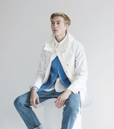 Maiden Noir's S/S 15 lookbook features all kinds of shirts with lower pockets, cool quilted nylon shirts, great coats, reversible bombers and even a few buckets. At first glance, it seems super simple and, in fact, is kind of simple.