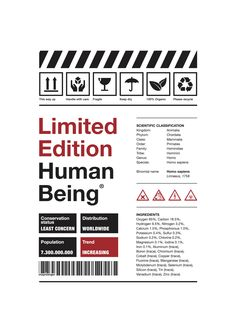 Limited Edition Human Being
