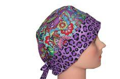 Scrub Hat Surgical Scrub Cap Chemo Hat Tie by ScrumptiousScrubHatz, $17.49