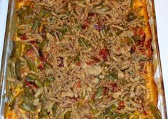Southwest Green Bean Casserole Recipe -  Yummy this dish is very delicous. Let's make Southwest Green Bean Casserole in your home!