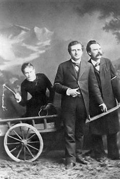 Lou Andréas-Salomé, Paul Rée et Friedrich Nietzsche en 1882