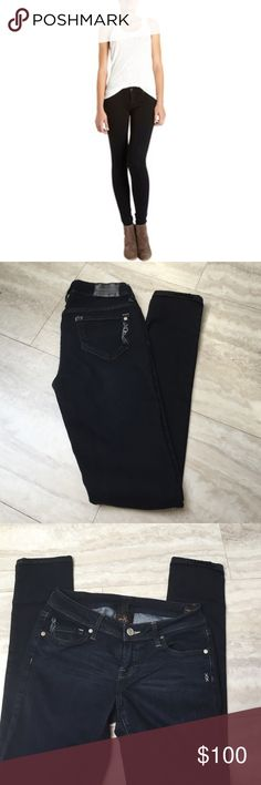 Genetic denim The Shane 26 in Tin Basically brand new. Bottoms have no sign of wear. Very stretchy and very skinny! looks great with high heels Genetic Denim Jeans Skinny
