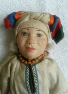 Rare 1920s Russian Stockinette Soviet Union Mordwa Woman Museum Quality USSR