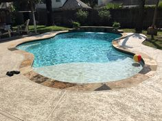 Picture your new freeform lagoon pool as the centerpiece for your backyard. This pool style is exotic and relaxed, allowing for private cozy, hideaways. Inground Pool Designs, Small Inground Pool, Small Backyard Pools, Backyard Pool Landscaping, Backyard Pool Designs, Swimming Pools Backyard, Outdoor Pool, Swimming Pool Designs, Patio Ideas With Pool
