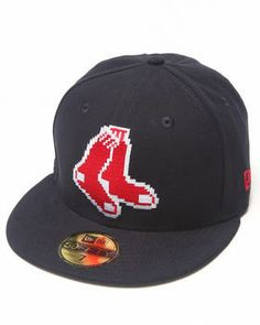 Boston Red Sox NE Pixel 5950 Fitted Hat by New Era