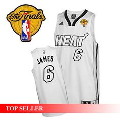 22 for Miami Heat LeBron James Swingman White Silver No. Home With 2011  Finals Patch NBA Jersey. 9817e25b2