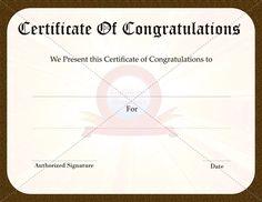congratulation certificate templates certificate template