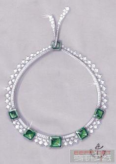 Cécile Arnaud - Jewellery - Paris  emeralds and diamonds