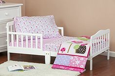 #kids The #Dream On Me #Spring Time 4 PC Toddler Bed and is perfect for your little girls Toddler Room. This set includes comforter, fitted Sheet, flat sheet, Pil...