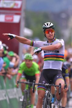 81st Tour of Switzerland 2017 / Stage 5 Arrival / Peter SAGAN / Celebration / Matteo TRENTIN / Patrick BEVIN / Bex Cevio 424m / TDS/