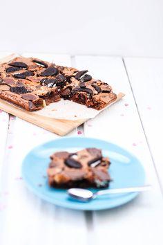 Oreo Brownies mit dunkler & weisser Schokolade