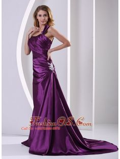 Eggplant Purple One Shoulder Mother Of The Bride Dress With Ruch and Appliques Court Train Elastic Woven Satin Mother Of Groom Dresses, Mothers Dresses, Mother Of The Bride, Bridesmaid Dresses 2014, Homecoming Dresses, Wedding Dresses, Cheap Dresses, Nice Dresses, Dresses 2013