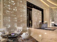 Sky Lobby at Four Seasons Hotel, Guangzhou, designed by HBA/Hirsch Bedner Associates