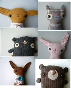 Stitchface handmade plush dolls---CUTE