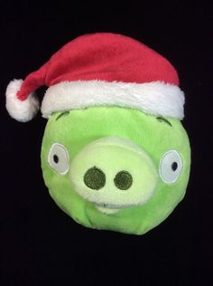 Angry Birds Santa Hat Christmas Pig Plush Soft Toy Stuffed 5