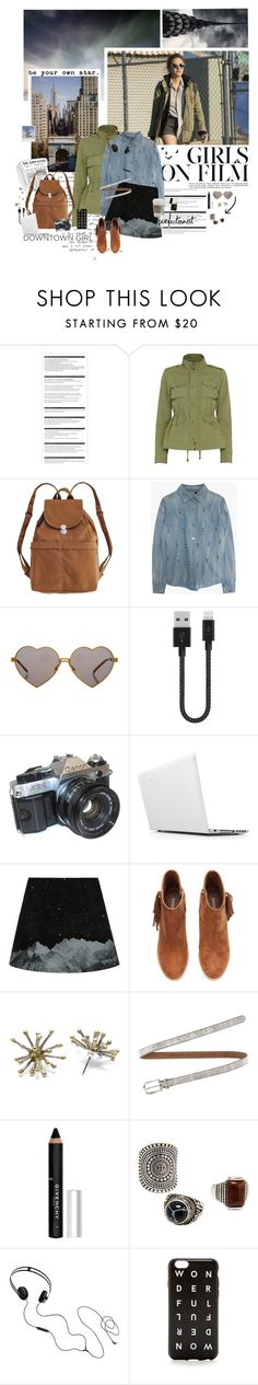 """Saying, ""Wake up, you need to make money."""" by rosesred ❤ liked on Polyvore featuring Arche, KEEP ME, NSF, BAGGU, Wildfox, Belkin, American Eagle Outfitters, Lenovo, H&M and Mikinora"
