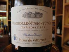 """En boutique L'ETIQUETTE 187, grand rue 30100 Alés. www.caviste-letiquette.fr Chambolle-Musigny 1er Cru 2005 """"les Groseilles"""" Henry de Villamont"""