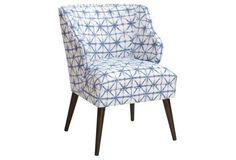 Kira Chair, Azure Shibori