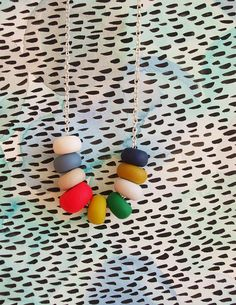 colorful bead necklace #etsy