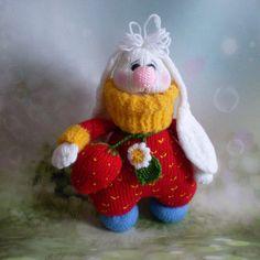 Amigurumi Toy Sweet White Bunny Crochet Knitted Plush Nursery