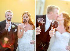 Dairy Queen wedding dilly bar toast   Vick Photography