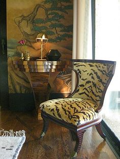 Shaun Christopher Designs, Tigre velvet by Scalamandre