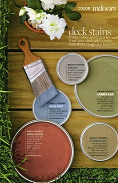 Behr deck stain colors like that green or blue (both hues from sherwin williams) for my kitchen deck