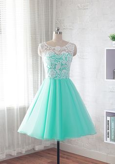 lace prom dress short evening dress homecoming by CharmAngell
