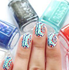 56 Vivid Summer Nail Art Designs and Colors 2017