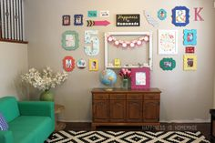 Love the Colorful Gallery Wall... I can envision one of our frames on this wall!