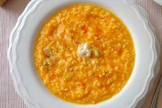Risotto con crema di carote e gorgonzola