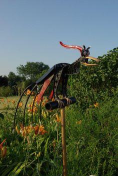 junk garden metal art   Welded Imagination - Art from Junk Metal   Sculptures II   Wix.com