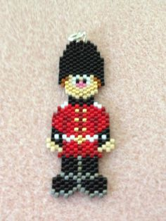 English Guard Brick Stitch Pendant by BeadingBeeCreations on Etsy, $9.00