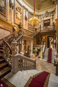 Unpack your Dream House Baroque Architecture, Beautiful Architecture, Interior Architecture, Grand Staircase, Staircase Design, Stairs, Palace Interior, Mansion Interior, Old Mansions Interior