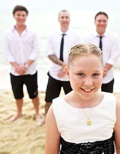 Smile!  Beach wedding Thailand.