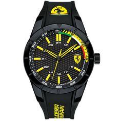 Relógio Scuderia Ferrari Masculino Borracha Preta - 830302