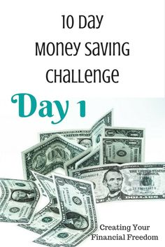 Learn what day 1 of the 10 day money saving challenge is all about. You can save $20, $30, $40+ dollars. Don't miss out. While you're there, don't forget to grab the free money saving tracker! /rachylkafonek/