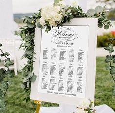 Seating chart printable digital wedding by PrintableMemoriesCo