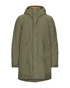 Hooded Parka, Military Green, Single Breasted, Mantel, Turtle Neck, Coat, Long Sleeve, Sleeves, Men