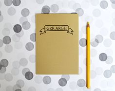 Buffy the Vampire Slayer notebook  Grr Argh by invisiblecrown, €4.75