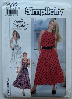 SIMPLICITY SEWING PATTERN 9695 CHRISTIE BRINKLEY COLLECTION DRESS SZ 4-12 UNCUT | eBay