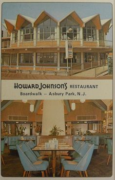 1963 Howard Johnson Restaurant Boardwalk ASBURY PARK Vintage Postcard NEW JERSEY