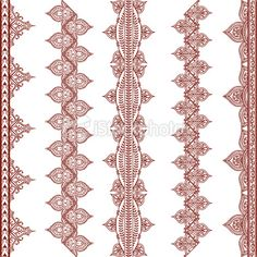 A series of original ornately detailed border designs inspired by the art of mehndi . Henna Mehndi, Henna Art, Mehendi, Inspiration Wand, Tattoo Inspiration, Henna Doodle, Stencil Printing, Doodles, Indian Patterns