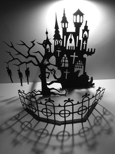 paper cut out haunt