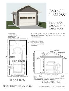 Garage plan 400 2 400 sq ft simple little design for a for Elevated garage plans