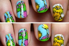 We're testing out this Dr. Seuss nail art this weekend!