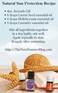 Natural Sun protection formula Using Oils | Essential Oils... more than basic Aromatherapy
