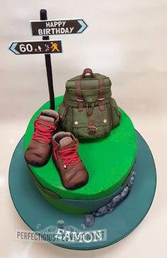 Hiking hillwalking cake celebration 60th birthday birthday cake novelty dublin swords malahide kinsealy clontarf castle backpack rucksack edible topper