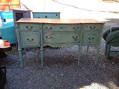 Antique Buffet Refinished | eBay