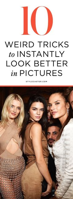 An excellent tutorial on how to pose for pictures, with 10 tricks every girl should know! Unflattering photos happen to the best of us. The camera really does add 10 pounds. Here's how to hack camera angles to look thinner, avoid the dreaded double chin, and end up with an ultimately more flattering depiction of you.   StyleCaster.com